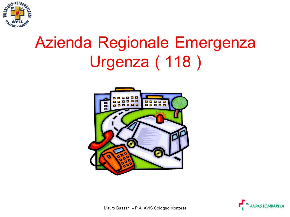 Azienda Regionale Emergenza Urgenza ( 118 )