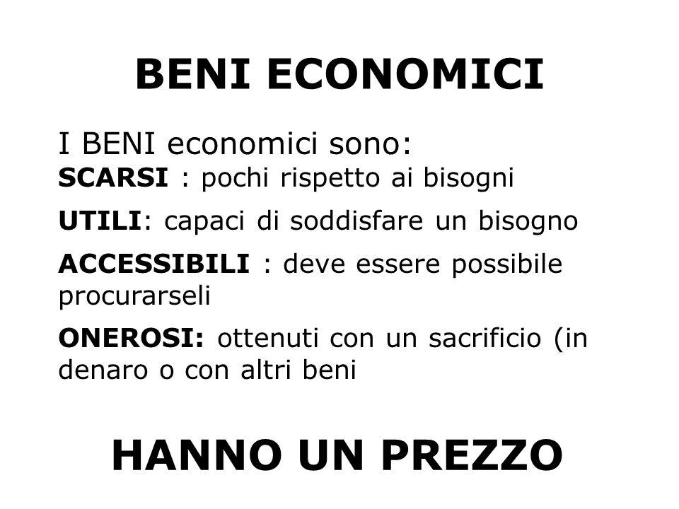 BENI ECONOMICI HANNO UN PREZZO