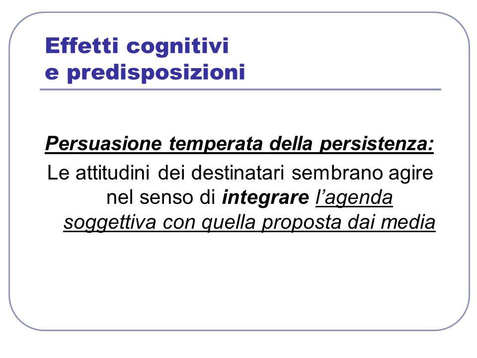 Effetti cognitivi e predisposizioni