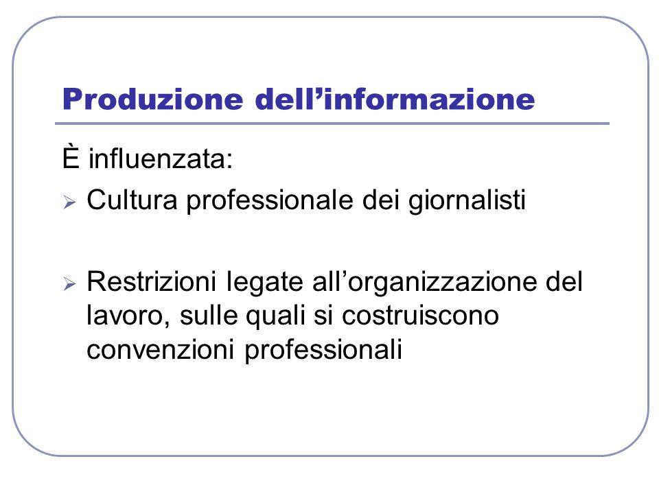 Produzione dell'informazione