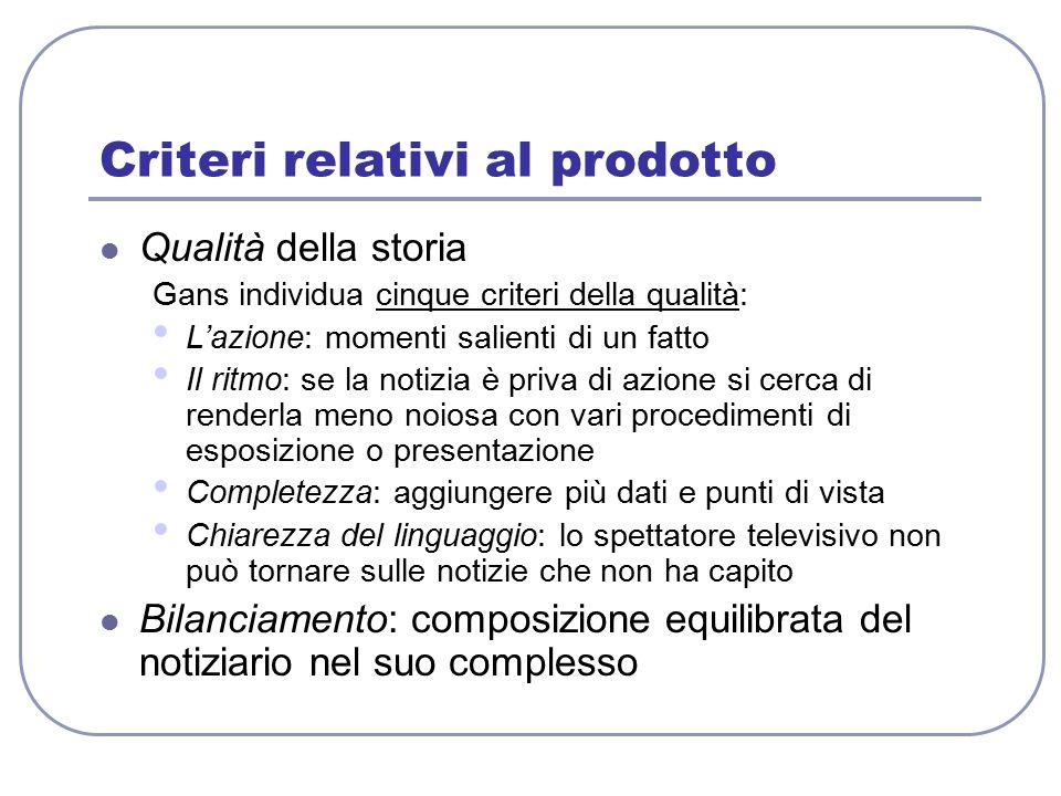 Criteri relativi al prodotto