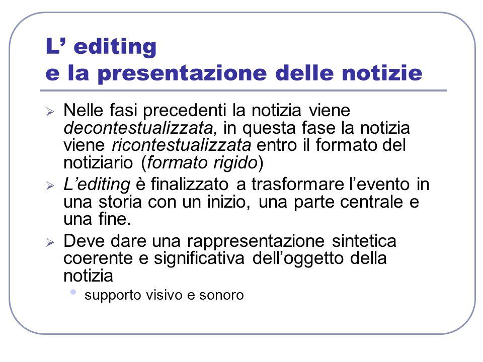 L' editing e la presentazione delle notizie