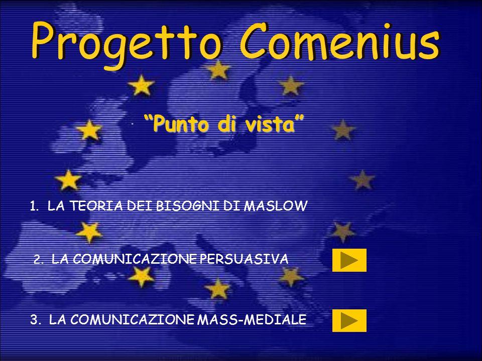 Progetto Comenius Punto di vista LA TEORIA DEI BISOGNI DI MASLOW