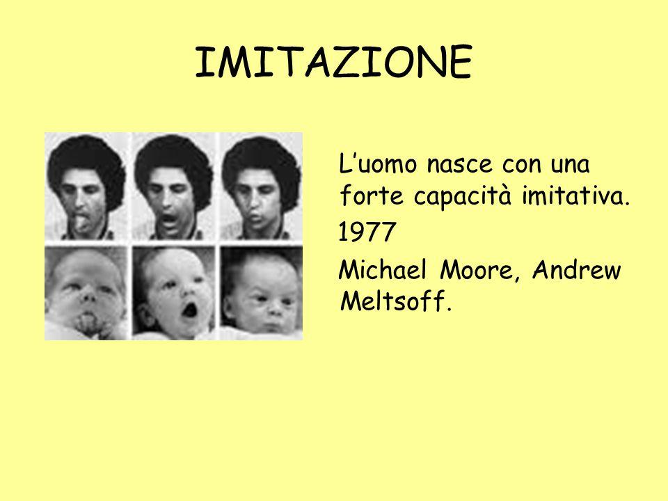 IMITAZIONE L'uomo nasce con una forte capacità imitativa. 1977