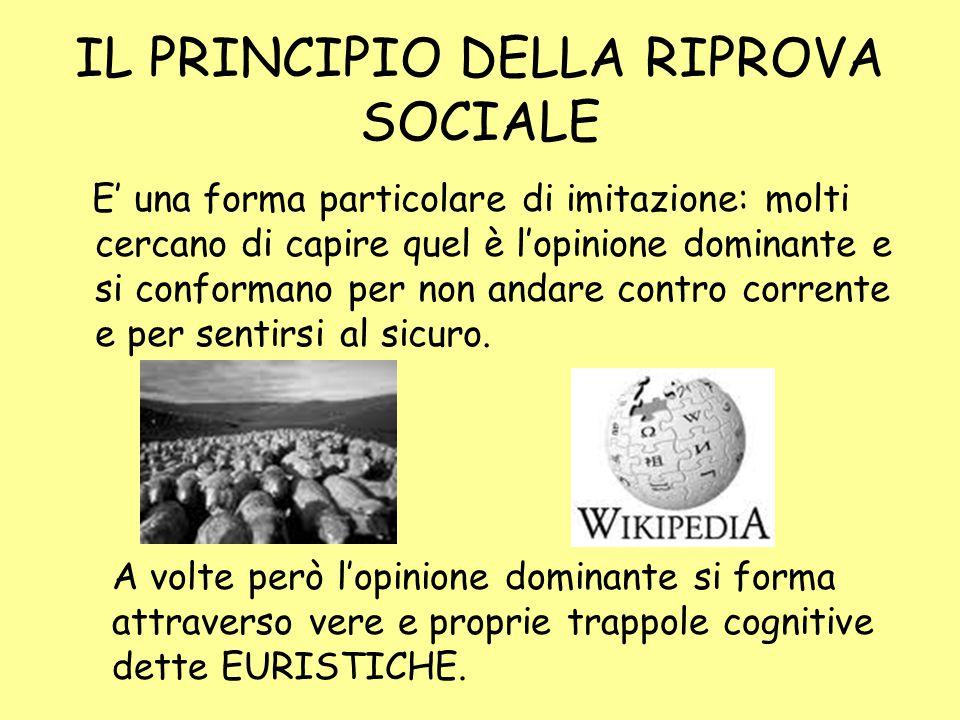IL PRINCIPIO DELLA RIPROVA SOCIALE