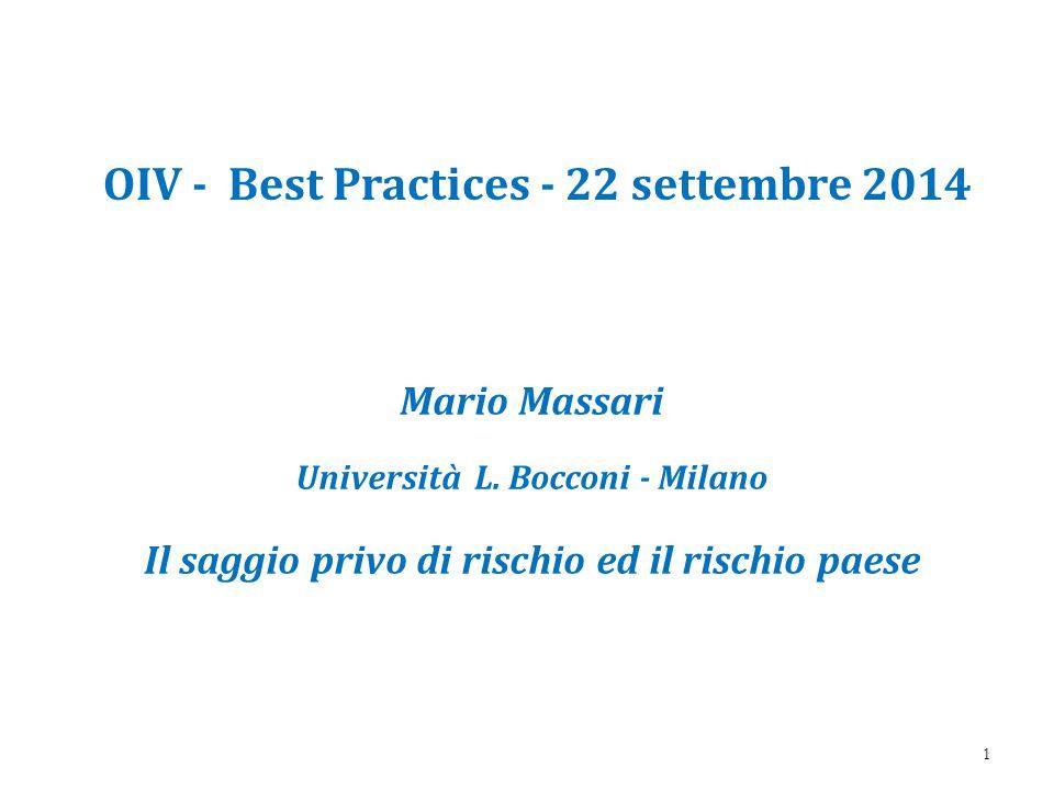 OIV - Best Practices - 22 settembre 2014