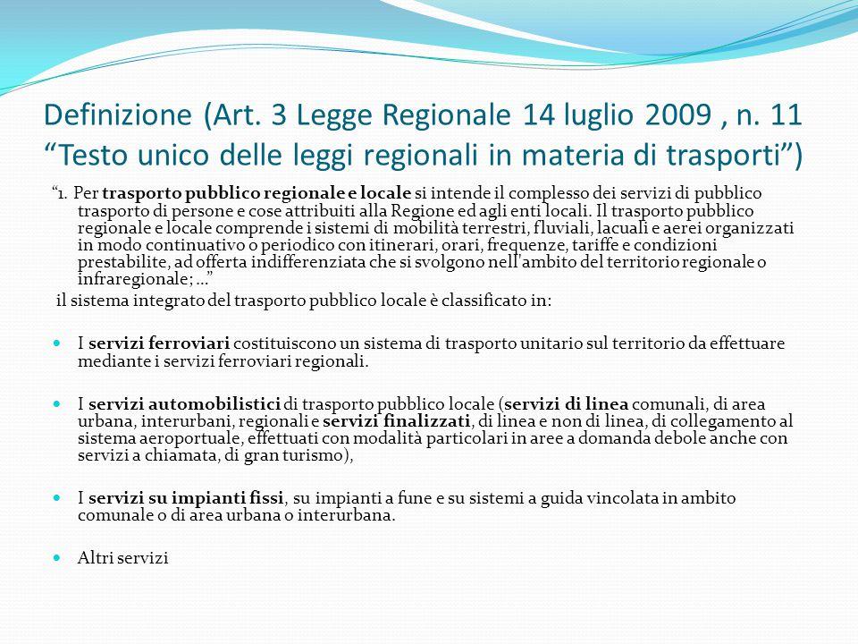 Definizione (Art. 3 Legge Regionale 14 luglio 2009 , n