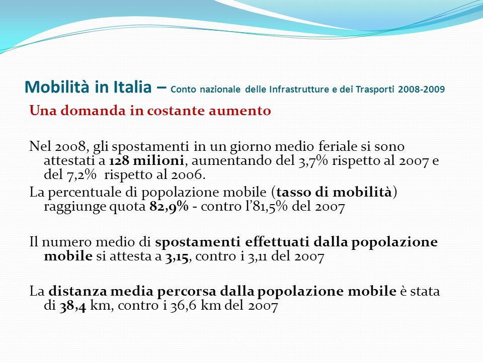 Mobilità in Italia – Conto nazionale delle Infrastrutture e dei Trasporti 2008-2009