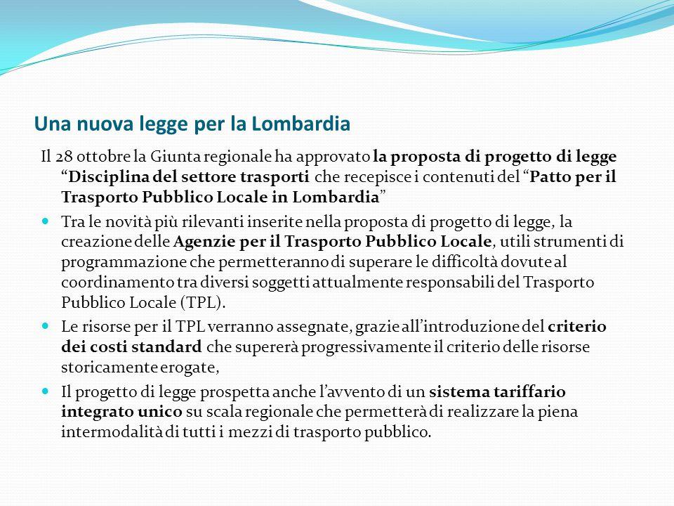 Una nuova legge per la Lombardia