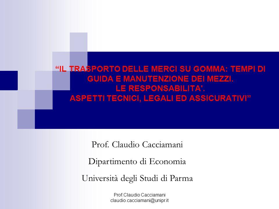 Prof. Claudio Cacciamani Dipartimento di Economia