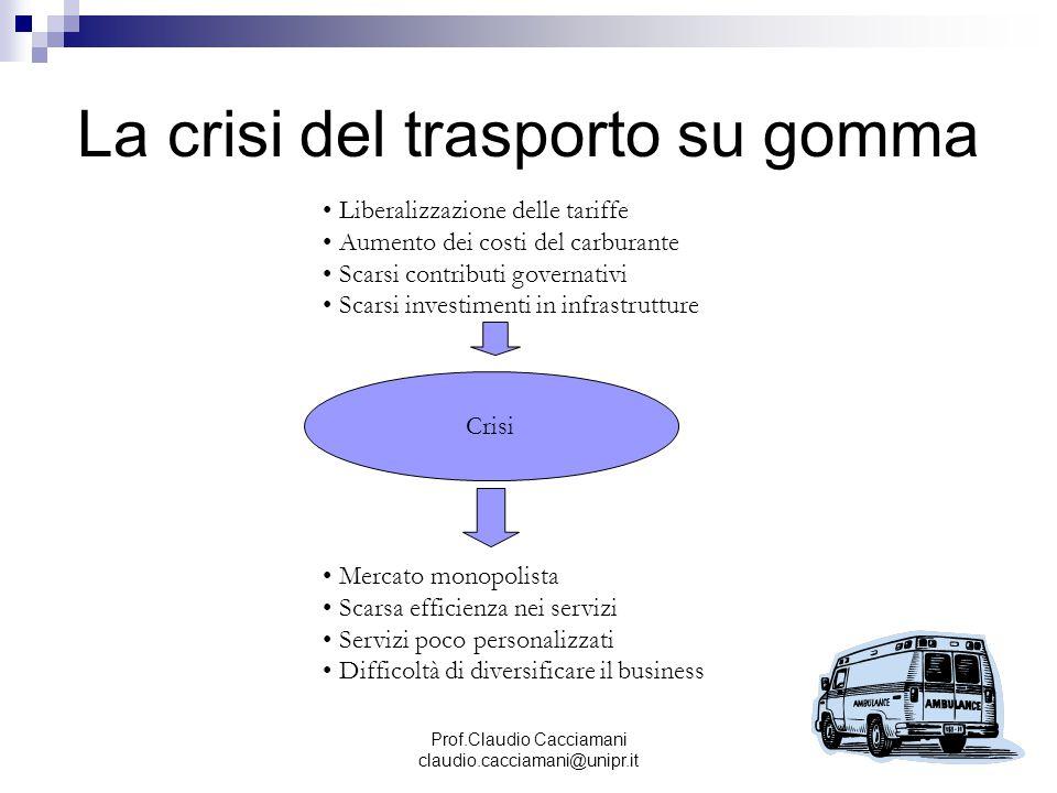 La crisi del trasporto su gomma