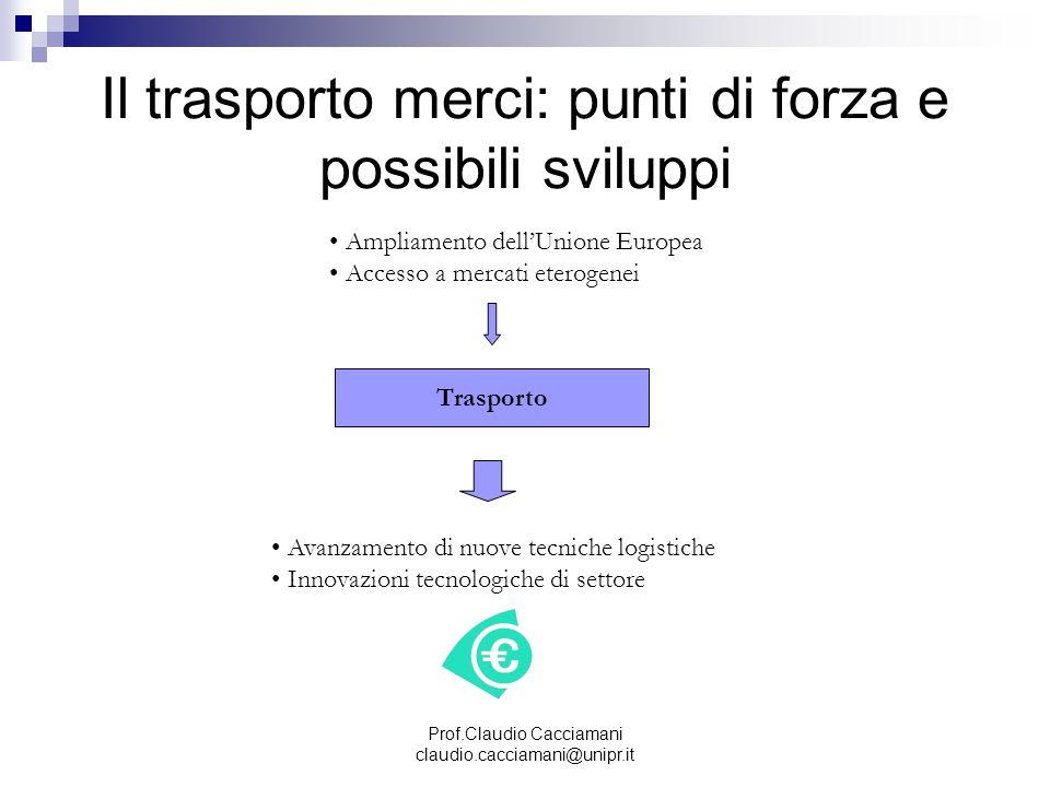 Il trasporto merci: punti di forza e possibili sviluppi