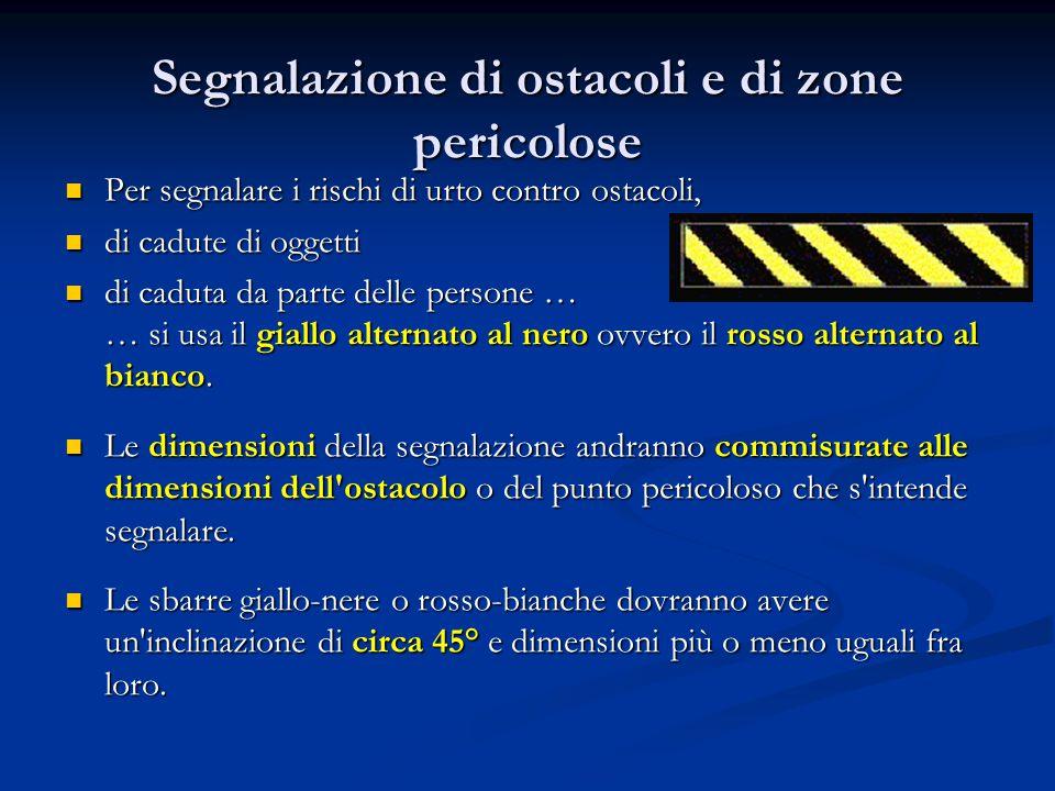 Segnalazione di ostacoli e di zone pericolose