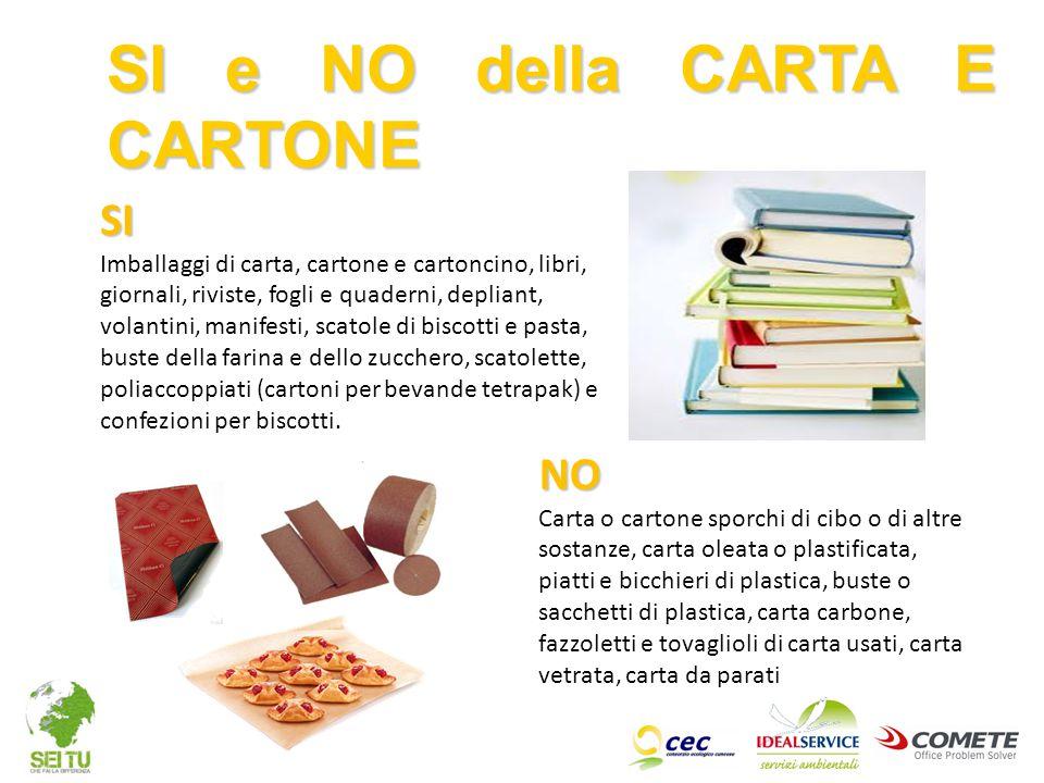 SI e NO della CARTA E CARTONE