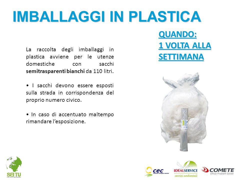 IMBALLAGGI IN PLASTICA