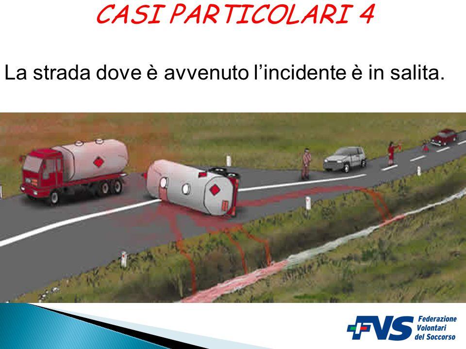 CASI PARTICOLARI 4 La strada dove è avvenuto l'incidente è in salita.