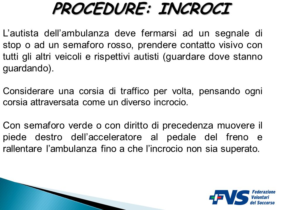 PROCEDURE: INCROCI