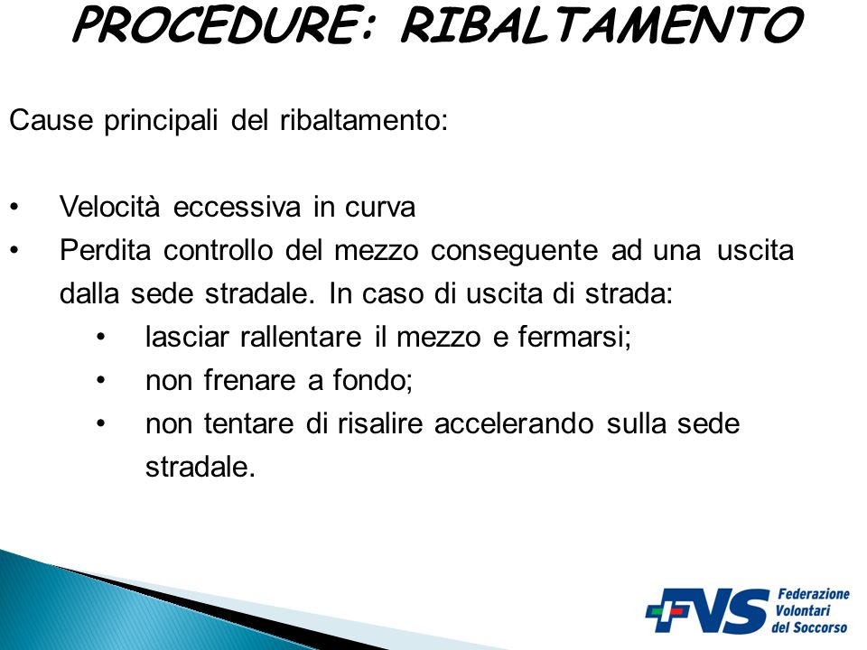 PROCEDURE: RIBALTAMENTO