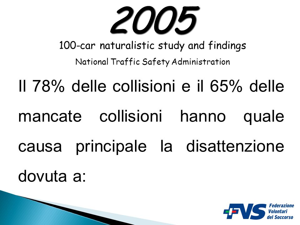 2005 100-car naturalistic study and findings. National Traffic Safety Administration.