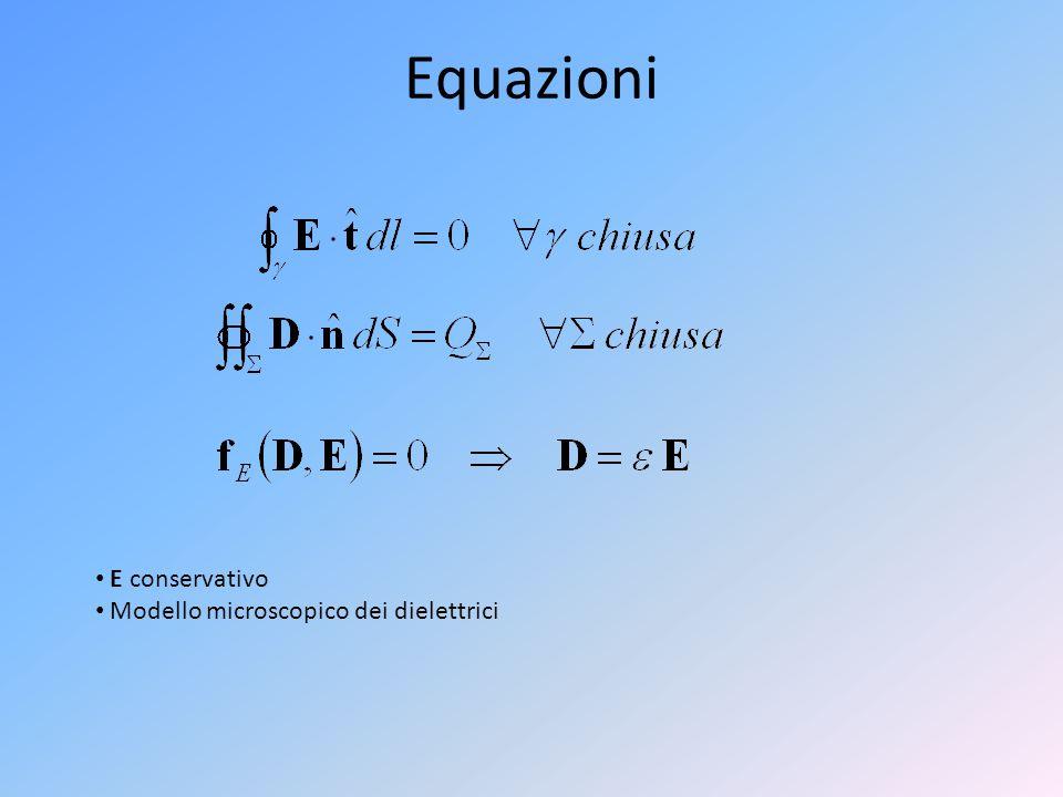 Equazioni E conservativo Modello microscopico dei dielettrici