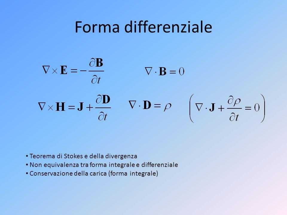 Forma differenziale Teorema di Stokes e della divergenza