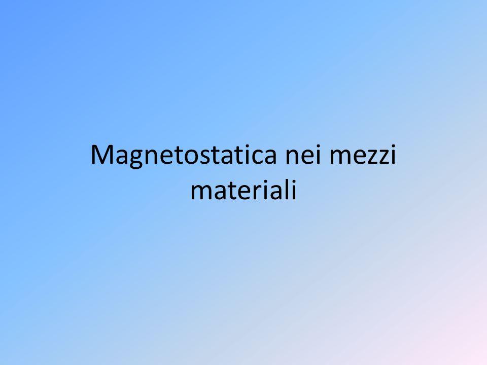 Magnetostatica nei mezzi materiali
