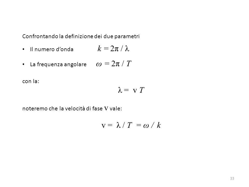 Confrontando la definizione dei due parametri