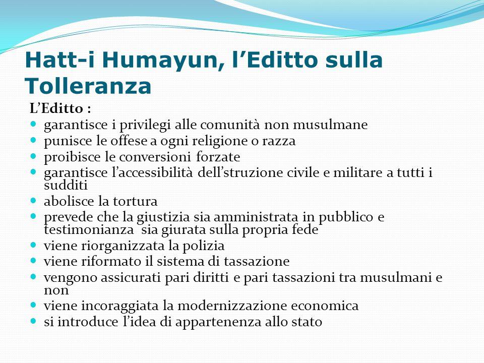 Hatt-i Humayun, l'Editto sulla Tolleranza