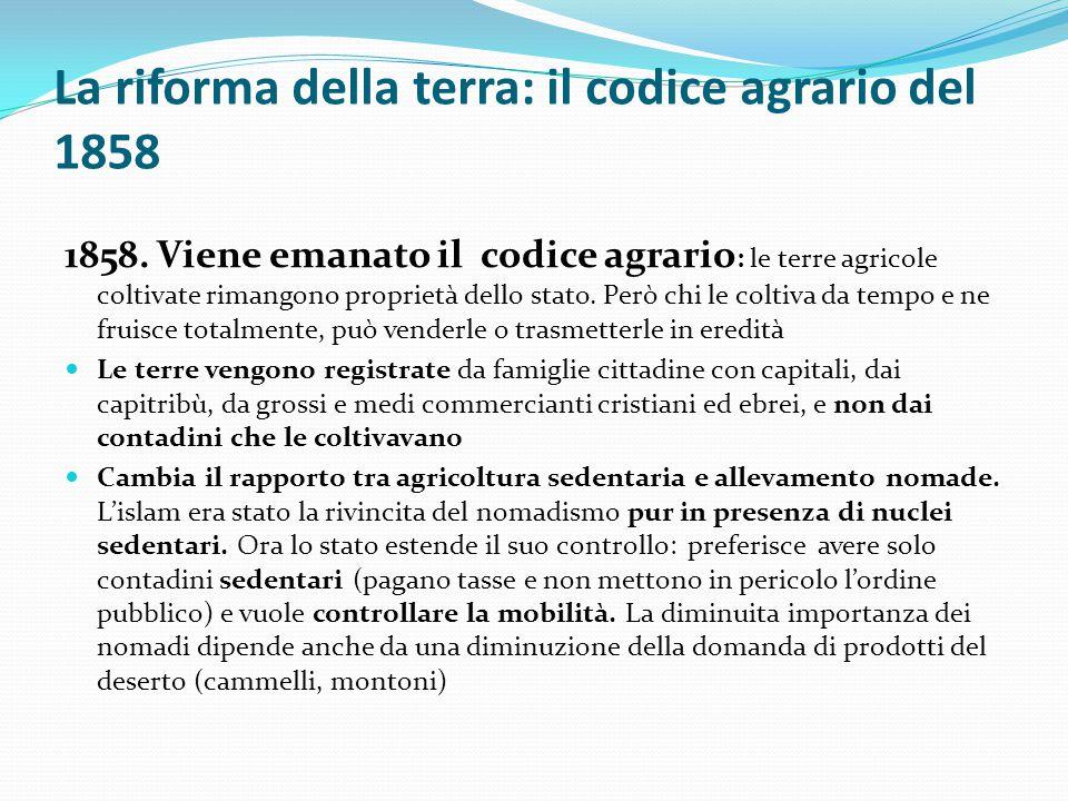 La riforma della terra: il codice agrario del 1858