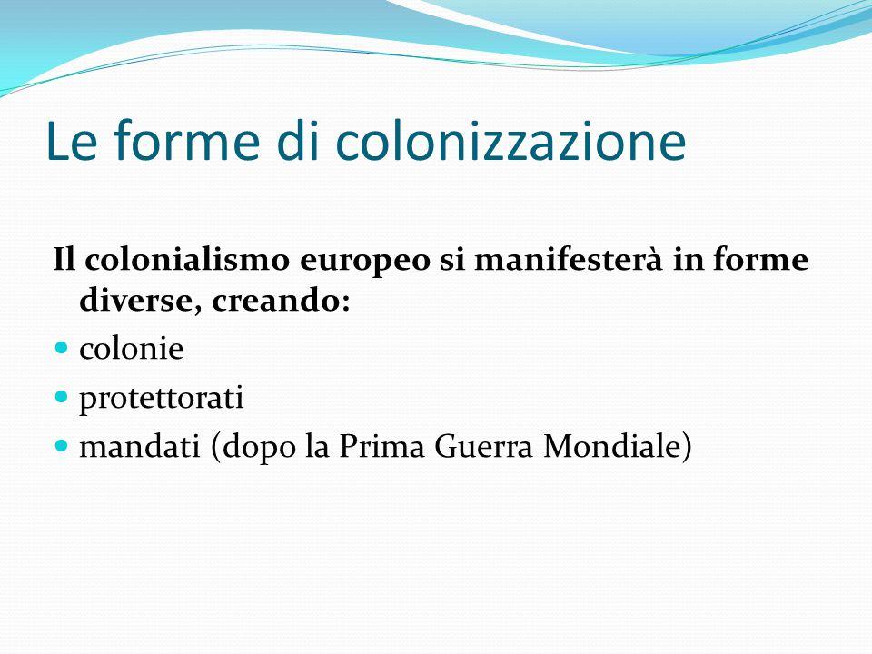 Le forme di colonizzazione