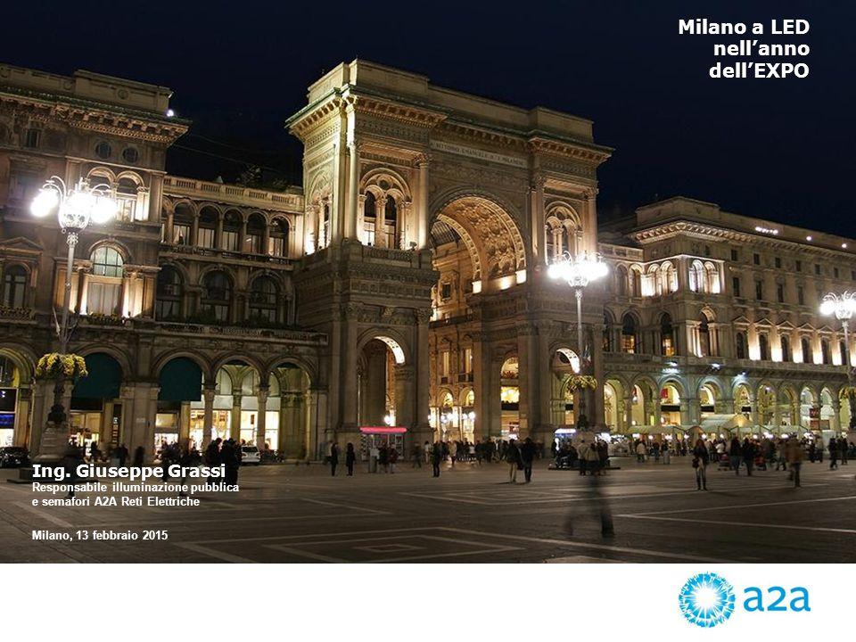 Milano a LED nell'anno dell'EXPO