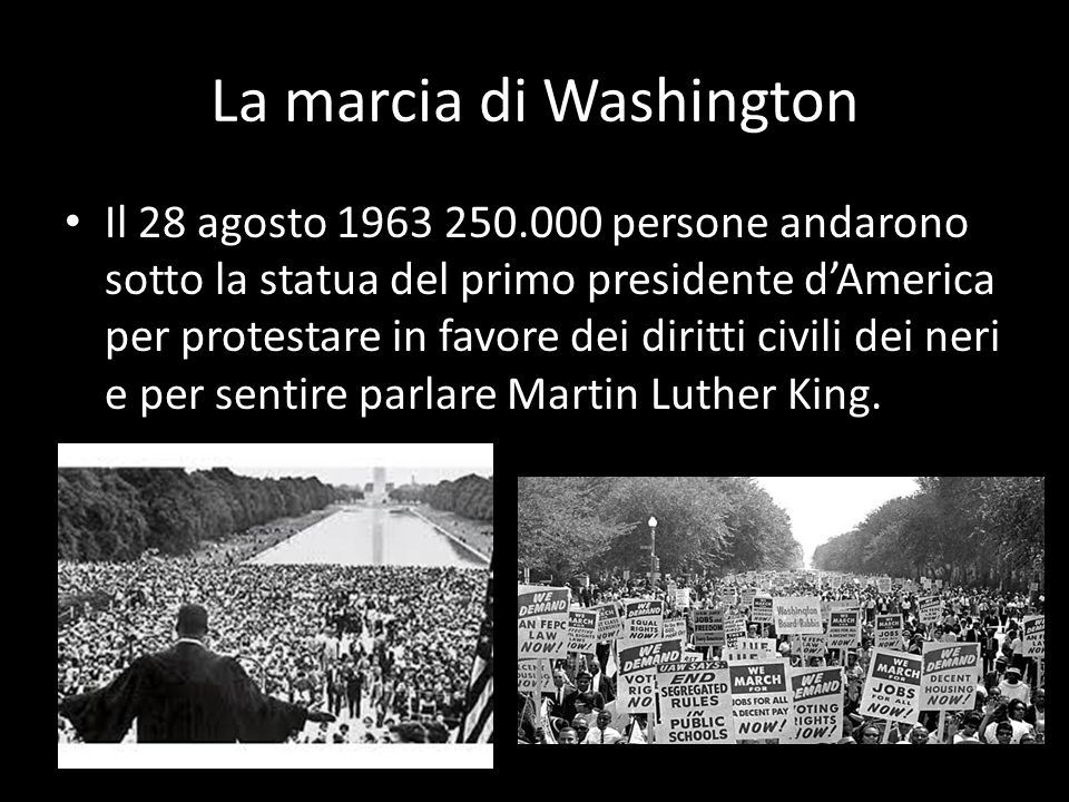 La marcia di Washington