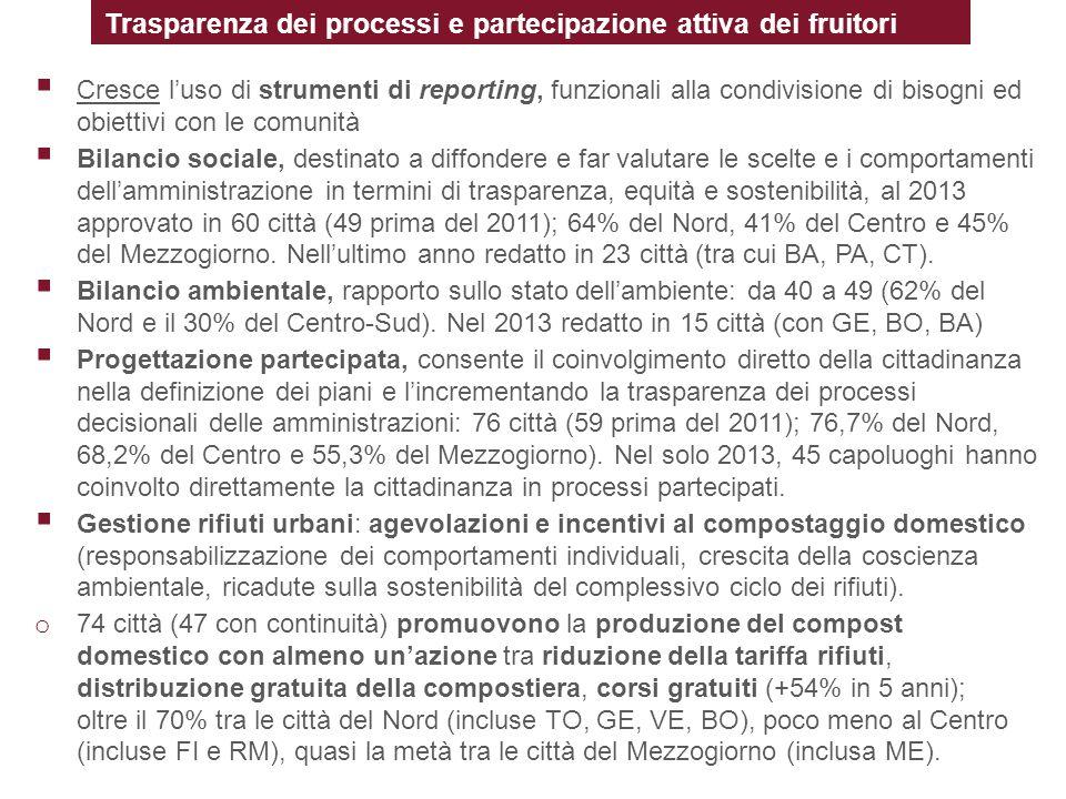 Trasparenza dei processi e partecipazione attiva dei fruitori