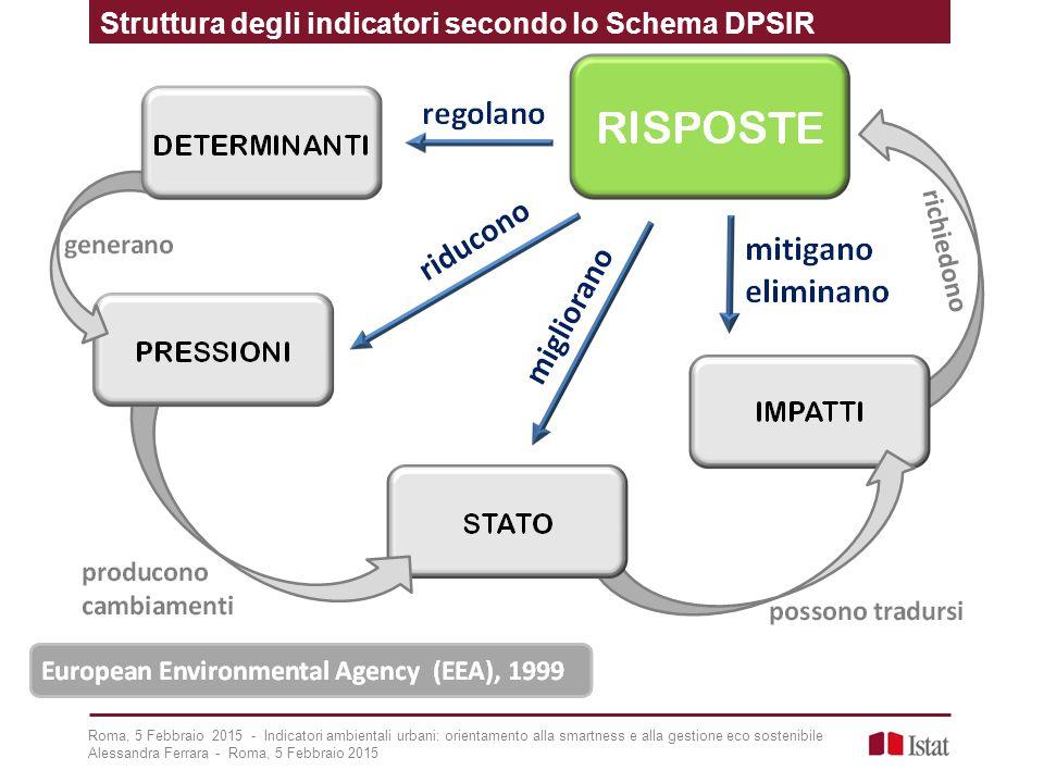 Struttura degli indicatori secondo lo Schema DPSIR