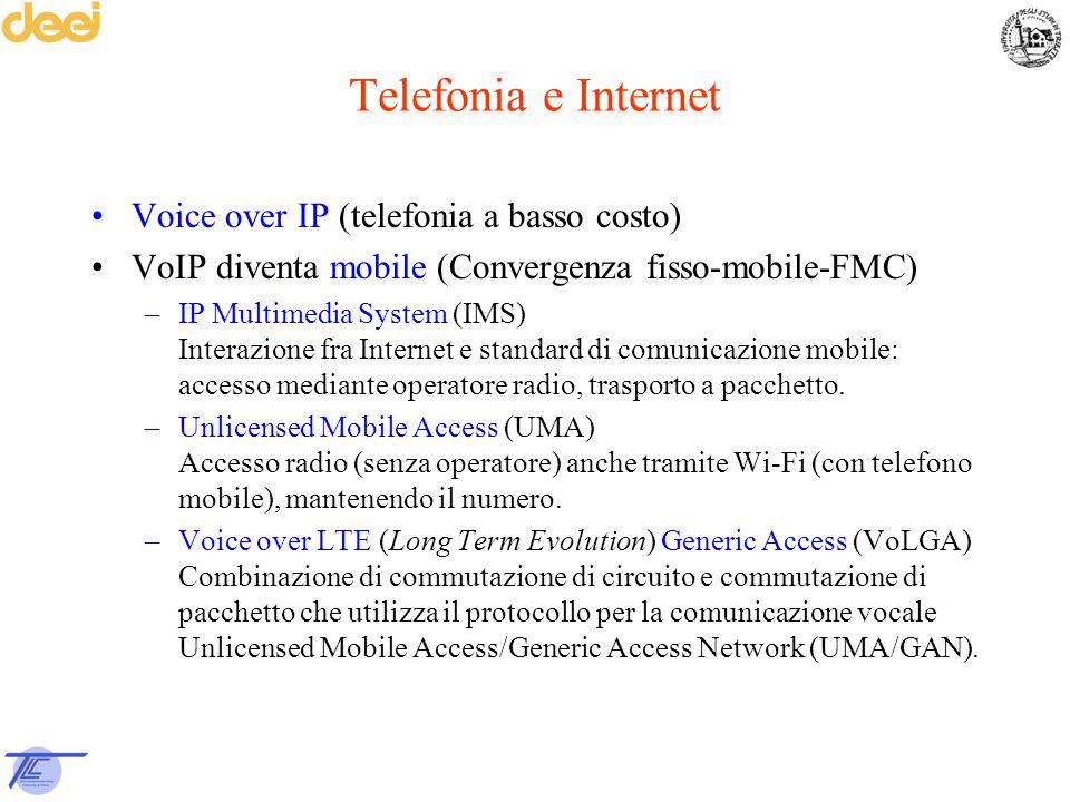 Telefonia e Internet Voice over IP (telefonia a basso costo)