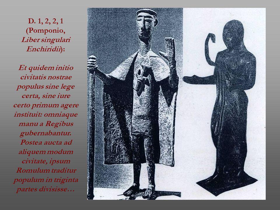 D. 1, 2, 2, 1 (Pomponio, Liber singulari. Enchiridii):