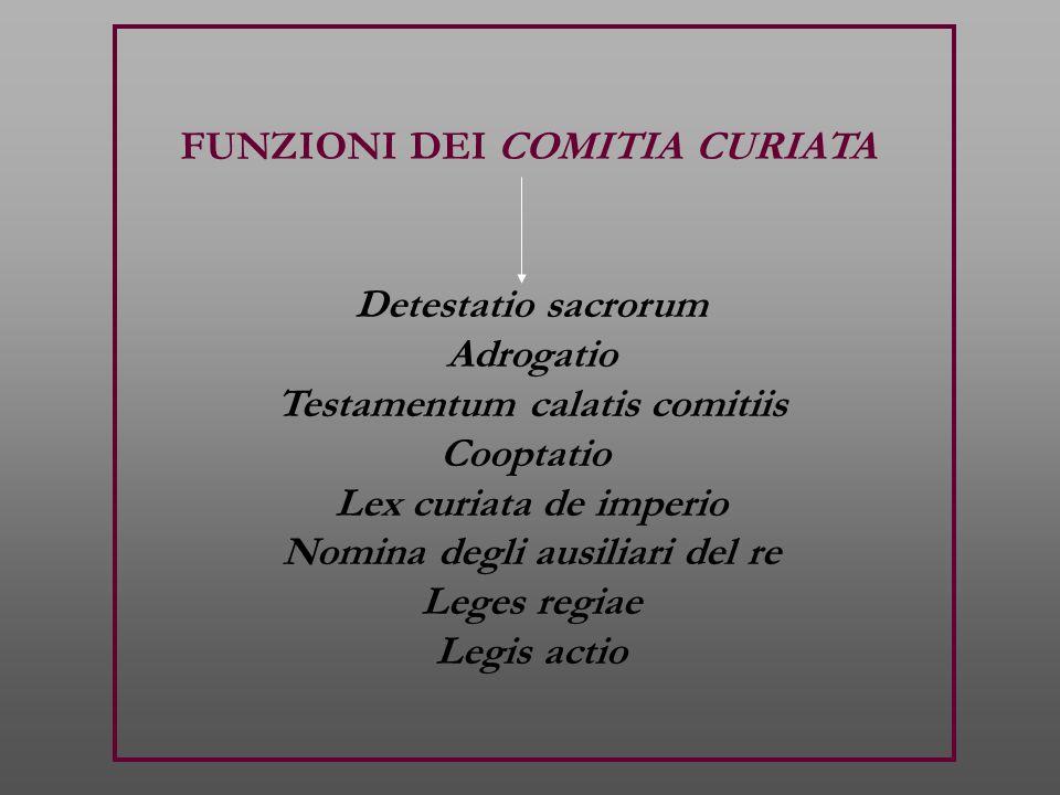 FUNZIONI DEI COMITIA CURIATA