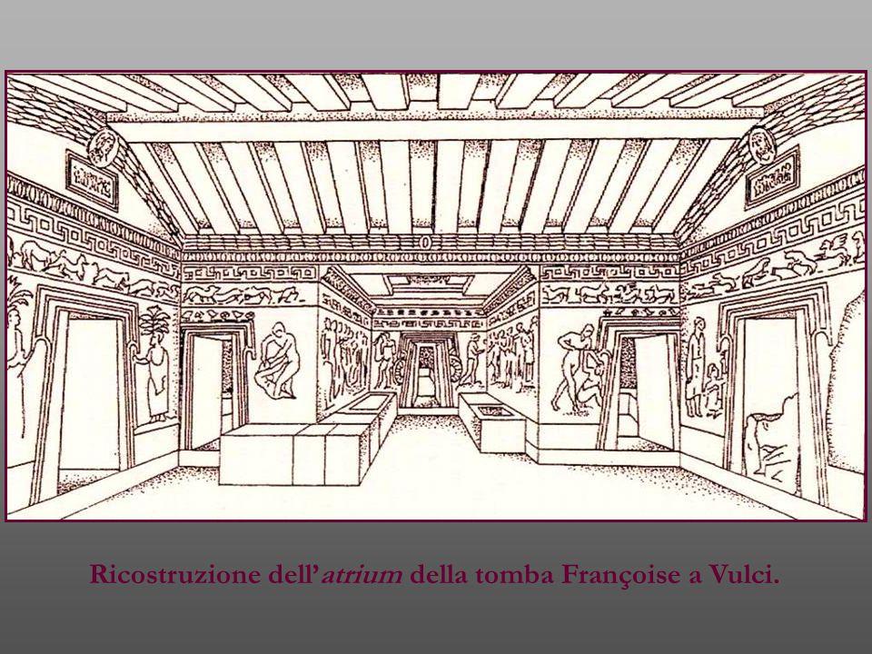 Ricostruzione dell'atrium della tomba Françoise a Vulci.