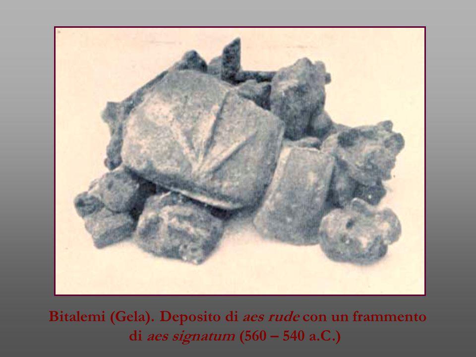 Bitalemi (Gela). Deposito di aes rude con un frammento