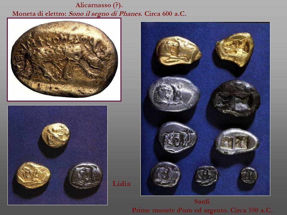 Alicarnasso ( ). Moneta di elettro: Sono il segno di Phanes.