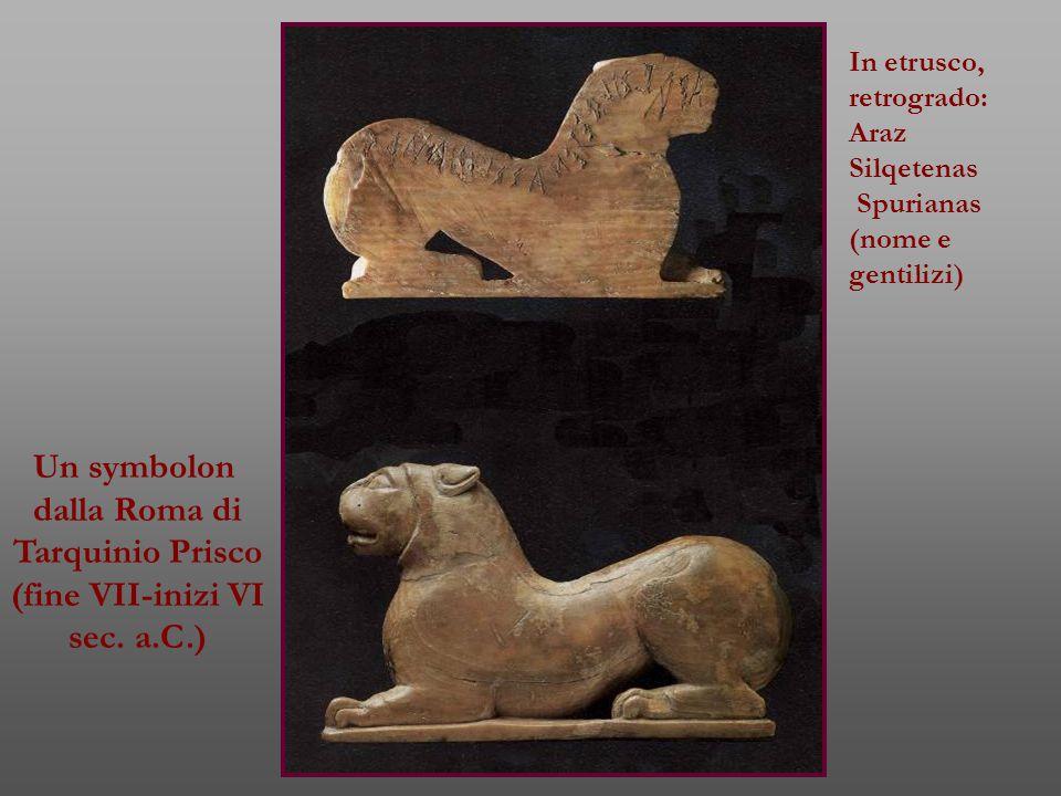 Un symbolon dalla Roma di Tarquinio Prisco (fine VII-inizi VI