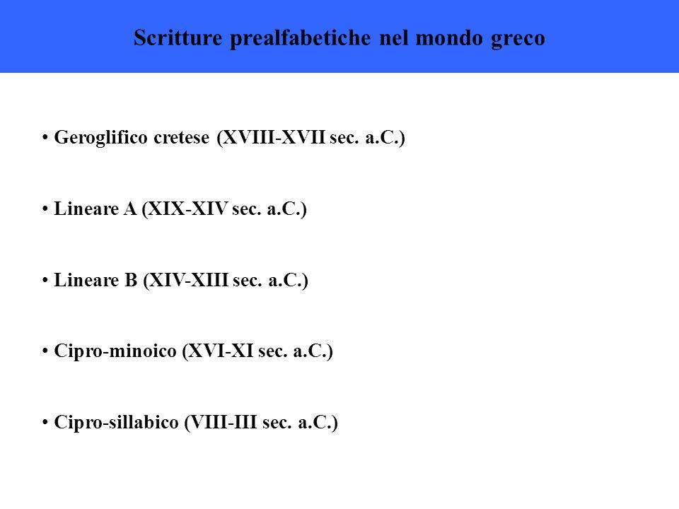 Scritture prealfabetiche nel mondo greco