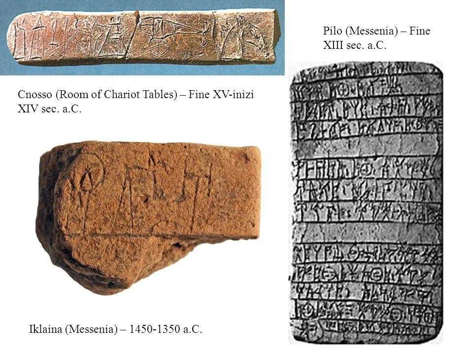 Pilo (Messenia) – Fine XIII sec. a.C.
