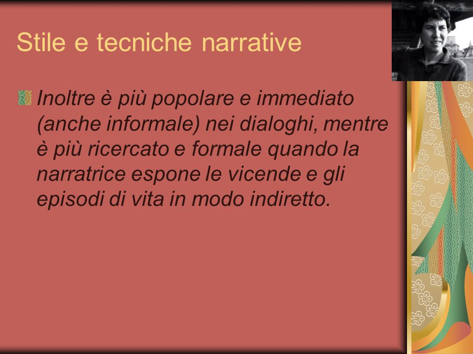Stile e tecniche narrative