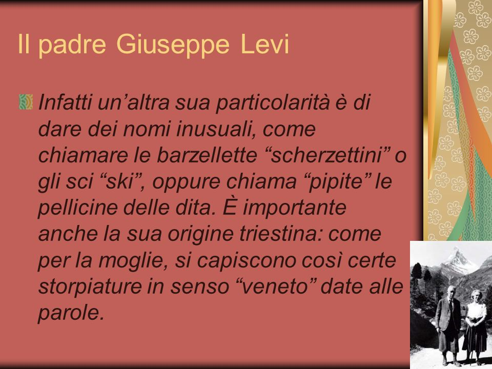 Il padre Giuseppe Levi