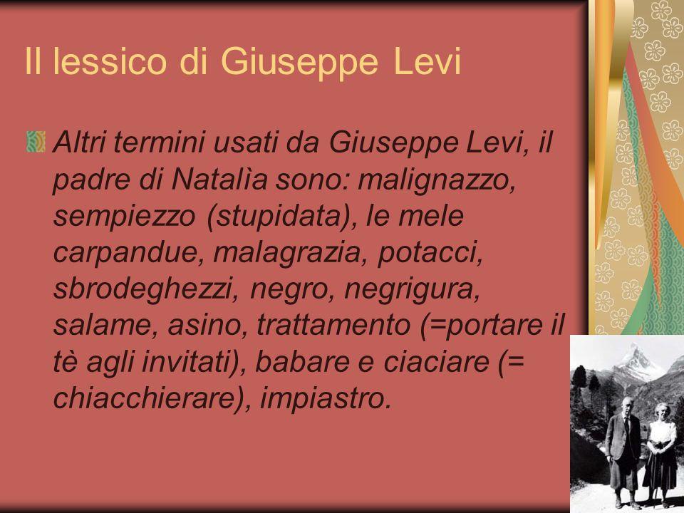 Il lessico di Giuseppe Levi