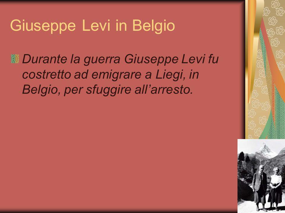 Giuseppe Levi in Belgio