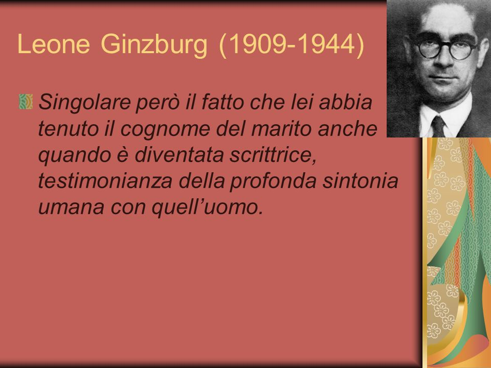 Leone Ginzburg (1909-1944)