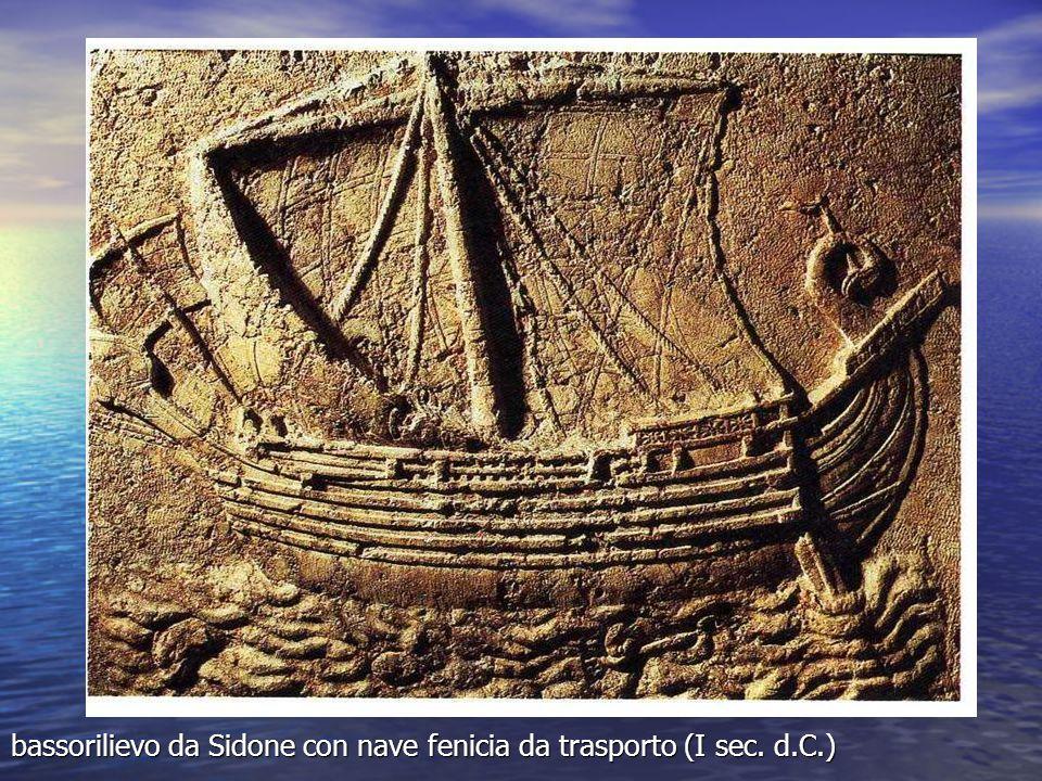bassorilievo da Sidone con nave fenicia da trasporto (I sec. d.C.)