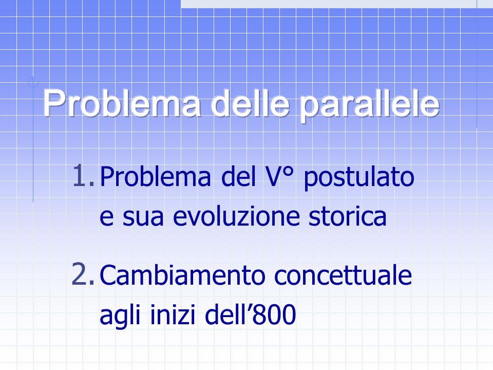 Problema delle parallele